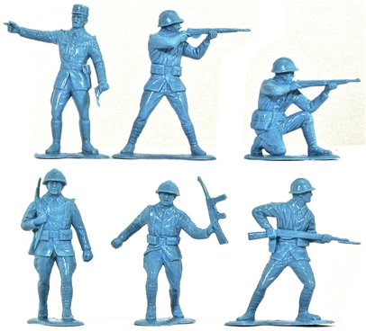 WWII French Infantry - in blue color
