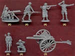 WW I British 18 Pounder Gun and Artillery Crew