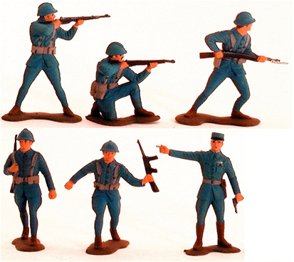 WWII French Infantry - Fully Painted