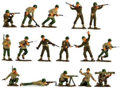 WWII American GI's - Fully painted