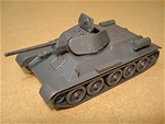 WWII Russian T-34 Tank with 76mm main gun