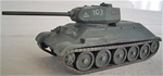 WWII Russian T34 Tank with 85mm main gun