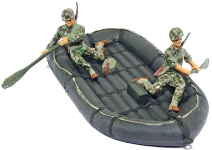 U.S.M.C. Inflatable Boat and Crew - fully painted
