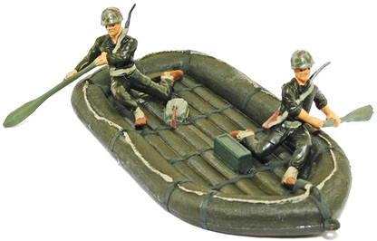 U.S.M.C. Inflatable Boat and Crew  -basic painted