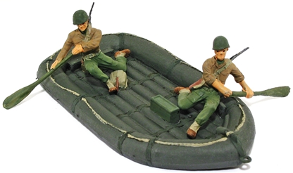 U.S. Army Inflatable Boat and Crew - fully painted
