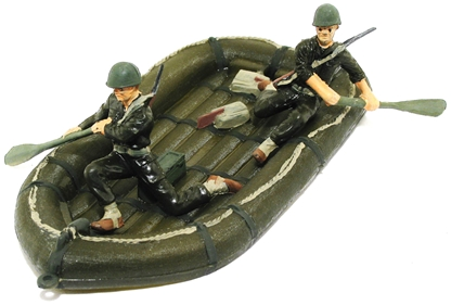 U.S. Army Inflatable Boat and Crew -basic painted