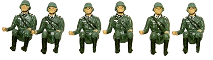 WWII Seated Germans - Fully painted