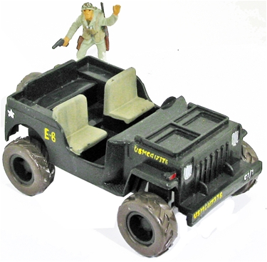 WW II Pacific Campaign Jeep-- Basic painted