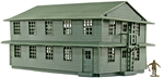 Barracks Building - 25mm scale - Olive Drab Color