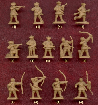 Japanese Ashigaru Archers and Arquebusiers
