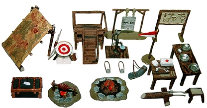 Boy Scout Camp Accessories - Fully painted
