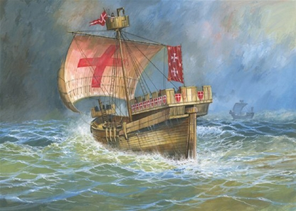 Medieval Crusader Sailing Ship