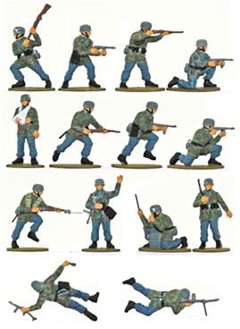 WW II German Paratroops - Fully painted version