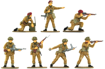 WW II British Paratroops - basic painted set