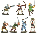 Medieval Foot Soldiers - Fully Painted Version