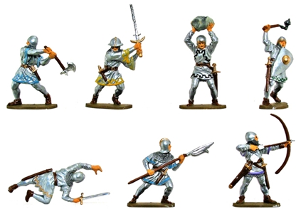 Medieval Foot Soldiers - Basic Painted Version