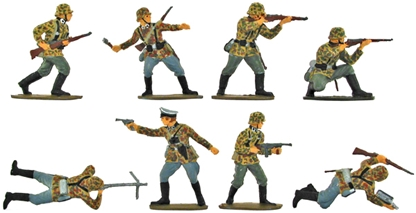 WW II German Infantry - Fully painted version