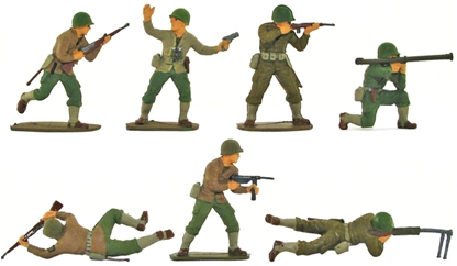 WW II American Infantry - Fully painted version