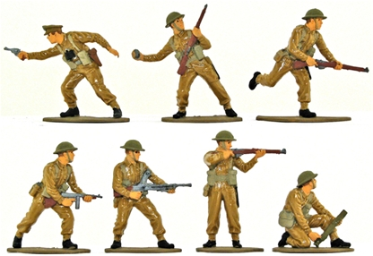 WWII British Infantry - basic painted version