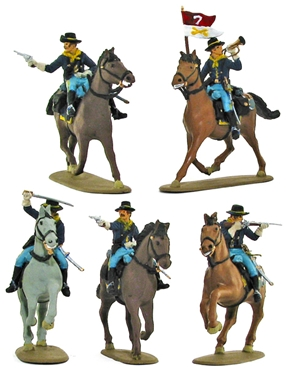 7th Cavalry Mounted - Fully Painted Version