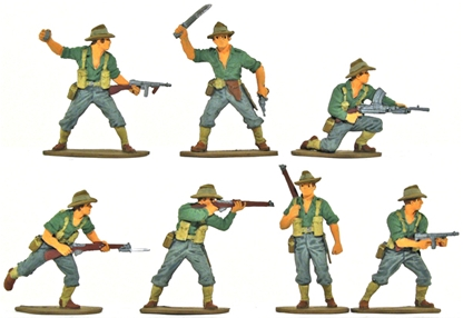 WWII Australian Infantry - Fully painted