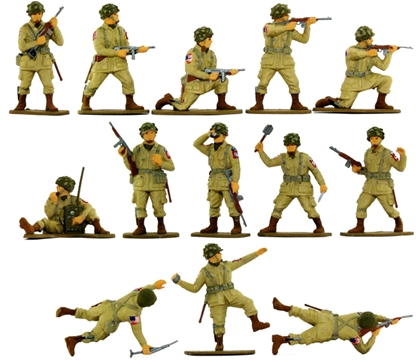 WWII American Paratroops - Fully painted