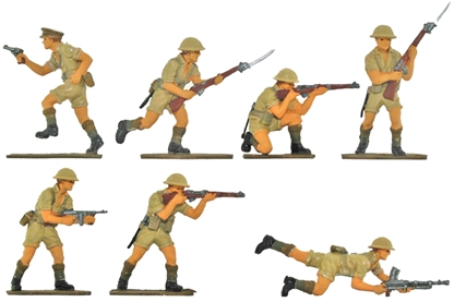 WW II British 8th Army - Fully painted version