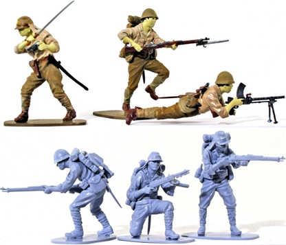 WWII Japanese Infantry - Full paint