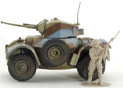 WWII British Daimler Armored Car - Fully painted