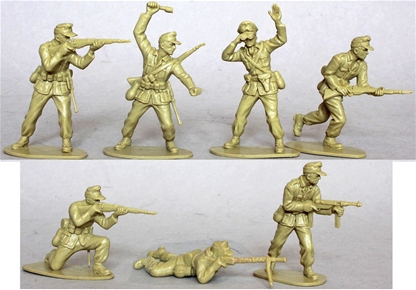 WWII Afrika Korps - 14 in 6 poses - no box