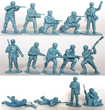 WWII German Paratroops - 14 in 10 poses no box