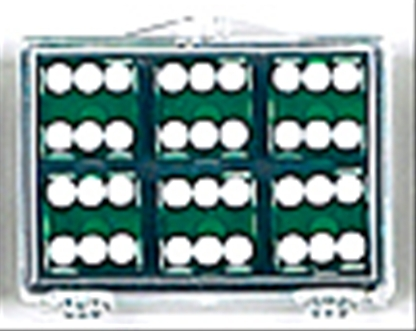 99% Precision Dice - Green with White Spots
