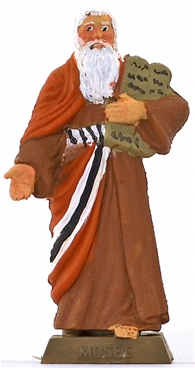 Moses with the 10 Commandments - fully painted