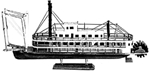 Mississippi Steamboat - Painted wood boat