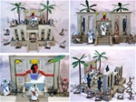Painted Ancient Egyptian Palace Playset