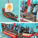 Roman War Galley with Painted Marines