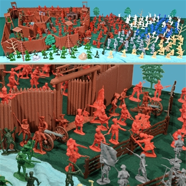 Military Vehicles For Sale Canada >> Deluxe French and Indian War 54mm Plastic Toy Soldier ...