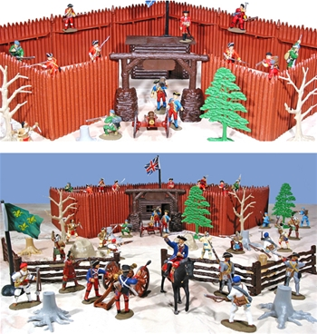 Hand Painted French and Indian War Playset