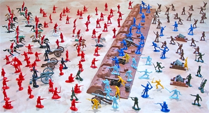 Deluxe Battle Of New Orleans 54mm Plastic Toy Soldier
