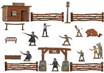 Hand-Painted Gunfight at the O.K. Corral Playset