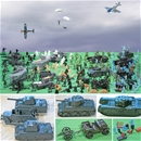 WW II Marx Recast Battleground Playset