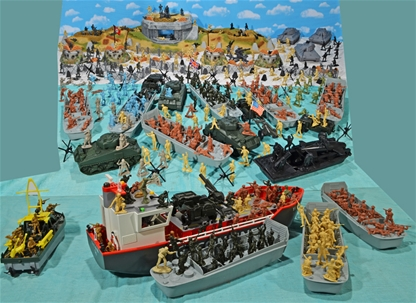Supreme Ww Ii D Day 54mm Plastic Toy Soldier Playset