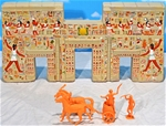 Ancient Egyptian Long Palace Wall - fully painted