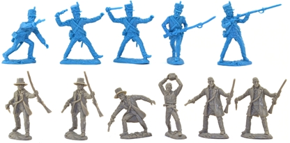 Texan Civilian-Soldiers and Mexican Infantry