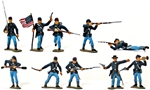 Marx Union Infantry - fully painted - save 40%