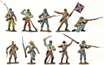 Marx C.S.A. Infantry - fully painted - save 40%
