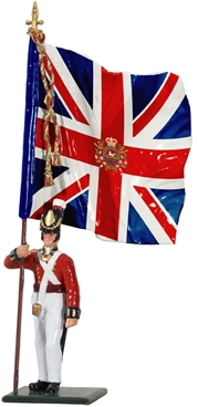 King's 8th Regt Ensign w/King's Colour