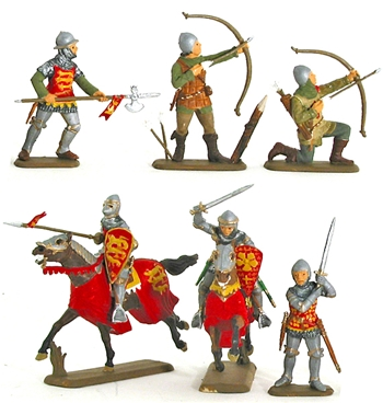 English Knights and Archers - Fully painted