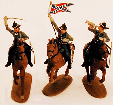 CSA Cavalry Set -- Fully painted