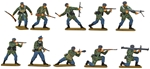 WWII German Paratroops - fully painted